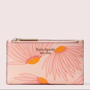 Kate Spade spencer falling flower bifold wallet